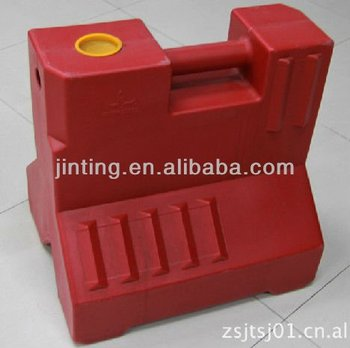 plastic water barrier, road water barrier, traffic barrier