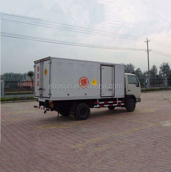 Low price Dongfeng 3-5tons detonator tansport truck, blasting agent truck, dynamite transport truck