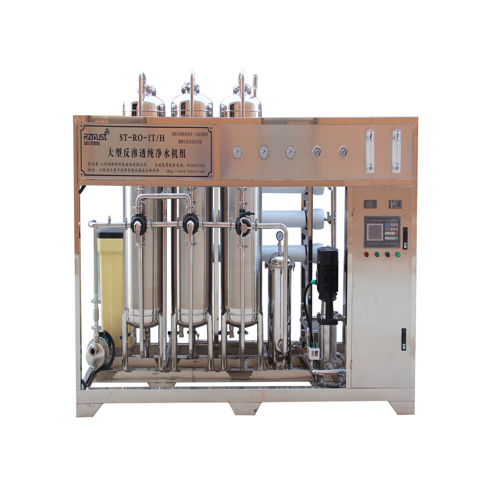 Automatic Control Water Purifier For Industry / 1000lph Ro Plant
