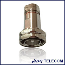 "RF 7/16 DIN straight male connector for 1/2"" corrugated cable"
