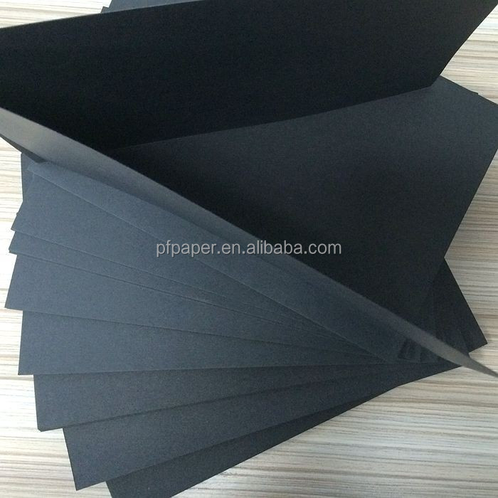 high density coated two side black craft paper board
