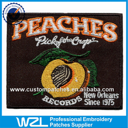 Black twill embroidery patches for sale, Custom top quality patches, Free sample embroidery patches