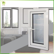 Small casement window white powder coating double layer glass windows aluminum casement window