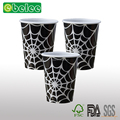 Black And White Spider Web Halloween Party Paper Cups