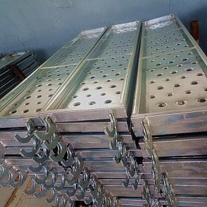 Tianjin TSX Formwork and Scaffold steel catwalk panel plank with hooks