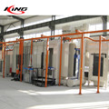 automatic aluminium door and window horizontal powder coating line system