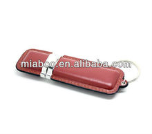 Customized leather flash disk USB full real capacity, usb leather 2.0
