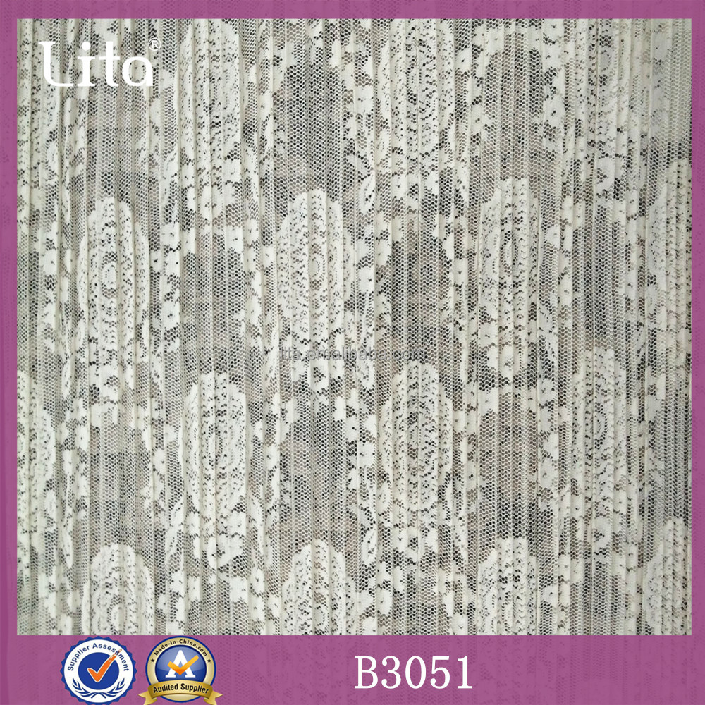 Lita B3051 crochet ruffles knitting lace women dress polyester fabric