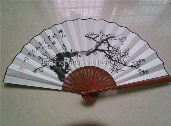 Bamboo fan Staves! Winter flowers design! Famous painting fan!