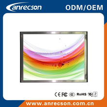 15 inch industrial open frame lcd monitor with touch in bus