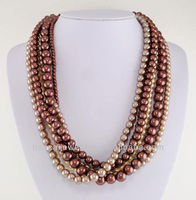 Chico's 14kt Gold Ep Chocolate Faux Pearl Torsade Necklace