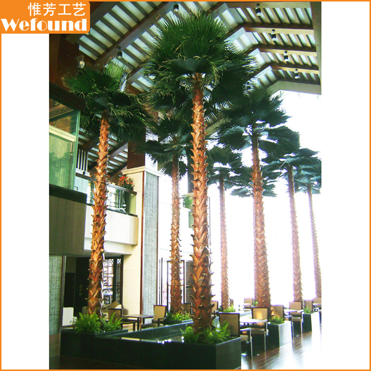 WEFOUND Tall 8 m/26 ft Indoor Home Decoration Metal Artificial Palm Trees for Sales