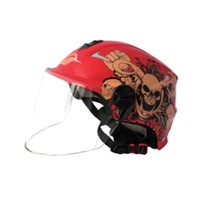 Red Chinese Full Face Motorcycle Helmet