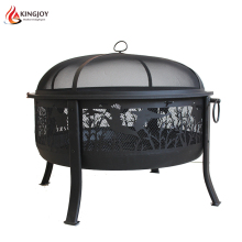 New Amazing Garden Steel Fire bowl pits with laser cutting Fish Pattern
