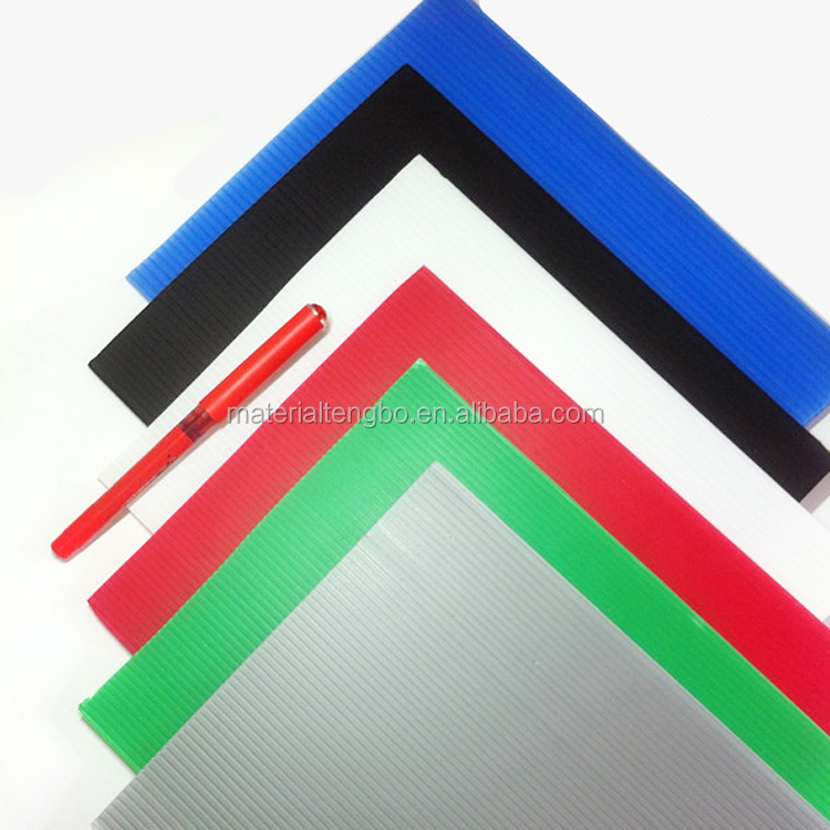 Hot selling 2016 4mm black corrugated plastic sheets 4x8