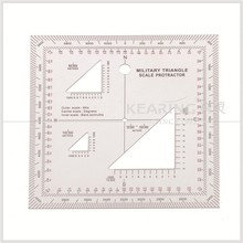 kearing brand aviation square protractor, combination square set protractor,super quality Military square ruler #KMP-4