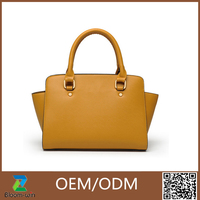 popular fashionable clear pu leather tote bags GuangZhou made in china