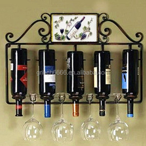 Metal Wire Antique Wine Rack,Absolutely Gorgeous Metal Glass and Wine Rack