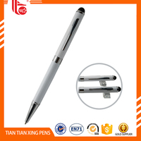 China Wholesale Cheap white metal pens,touch stylus pen