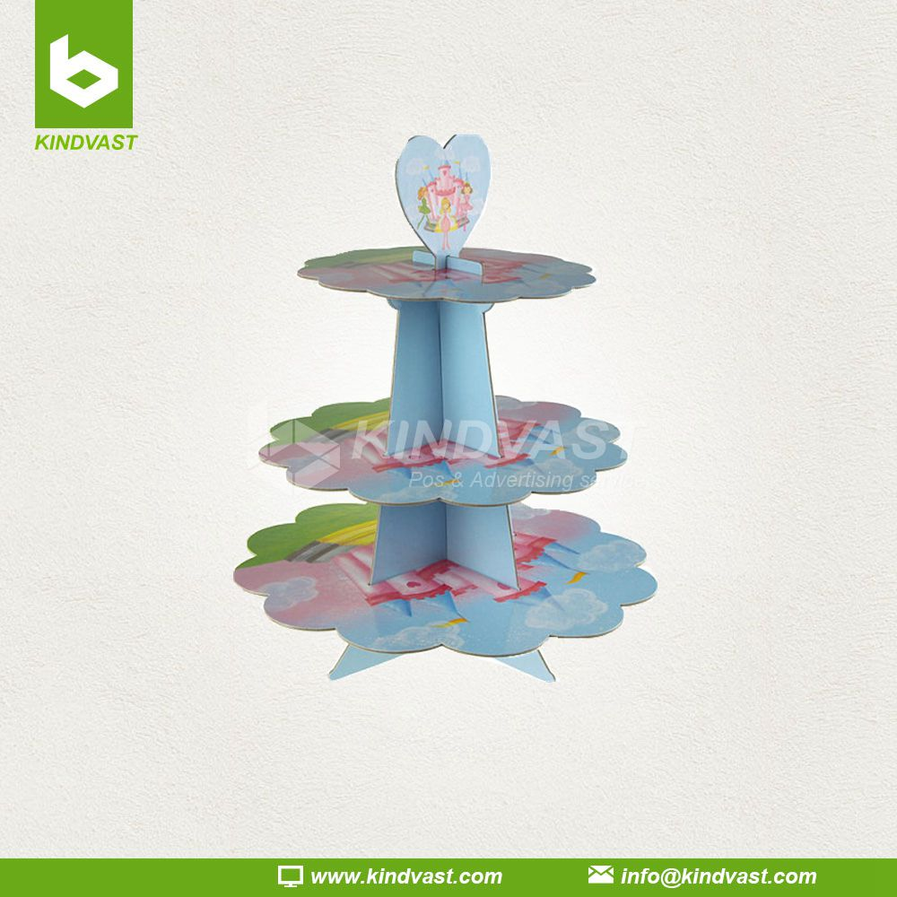Princess Carboard Cupcake Holder Stand 3 Tier
