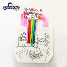 DIY eco-friendly cartoon drawing non woven tote bag fold