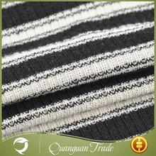 New design fashion comfortable garment black white stripe fabric