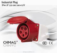 16A 63A 125A 2pin 3pin 4pin 5pin IP44 industrial plug and socket 32A 3P 240V 123 IECCEE good cheap best waterproof CE