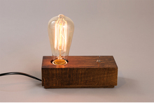 Modern Fancy Natural Wood Base Table Lamp Edison Bulb Table Lamp With Switch for home decoration lighting