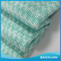 100 Polyester apply to sweater and garment aqua and white yarn dyed one side brush fleece coarser jacquard knitting fabric