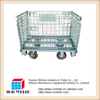Security Roll Container Storage Transport Metal Mesh Pallet Cage Supermarket
