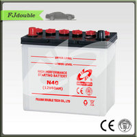 dry charged auto battery n40 12v 40ah