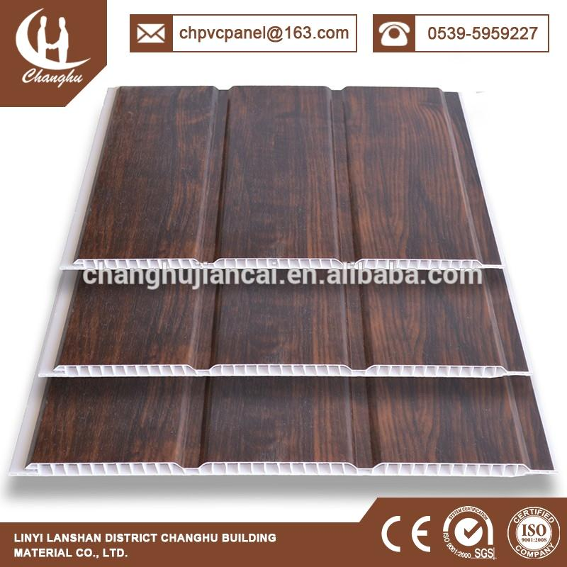 Groove pvc panel for decorations With Wooden Grain