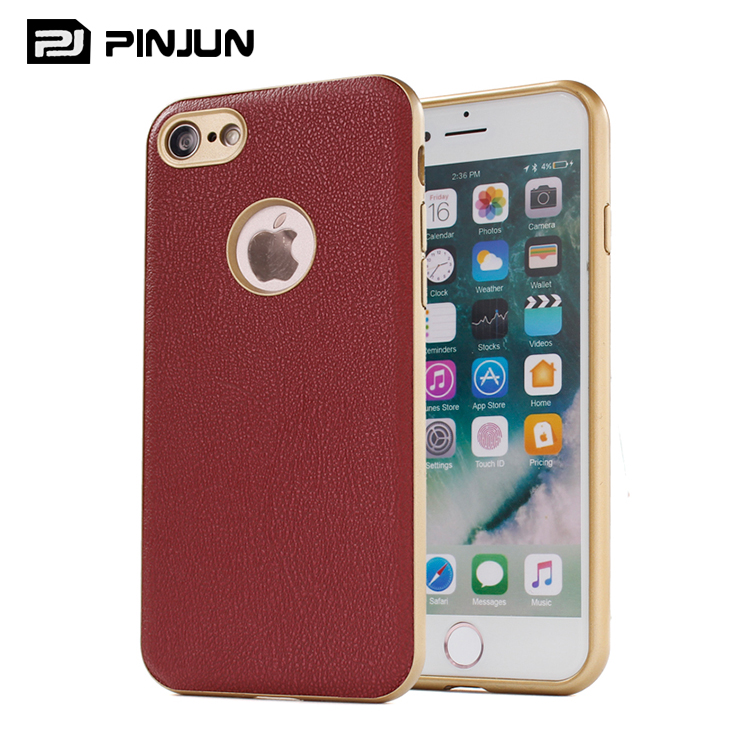 DIY design brand name mobile accessories tpu mobile phone bags cases for iphone 7 PU leather back cover