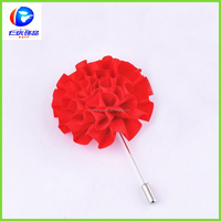 handmade red flower brooch upper garment brooch