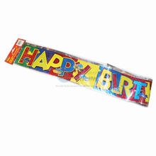 Decorative Party Favors Birthday Foil Banner happy birthday letter banner