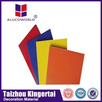 Alucoworld Anodized acm modern building facade materials natural aluminum composite panel