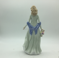 New arrival ceramic female figurine holding flowers
