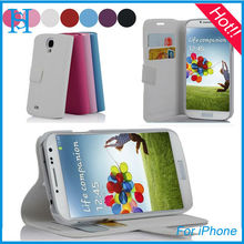 wallet PU leather cover case for samsung galaxy s4 9500