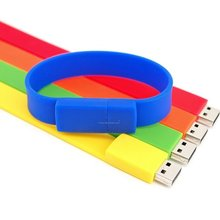 Silicone Wristband Bracelet USB 2.0 Memory Stick Flash Pen Drive 8GB U-Disk New