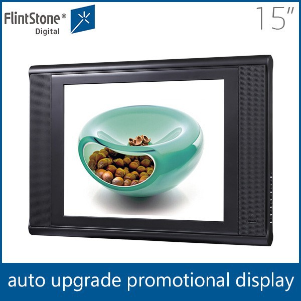 best selling 15 inch wall mounted video media lcd advertising player