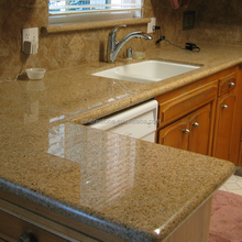 Yellow granite reception counter,kitchen countertops bar top