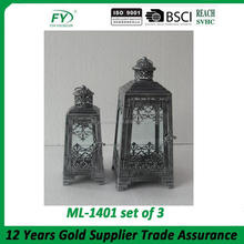 ML-1399 Metal lantern in European classic design wholesale moroccan lanterns