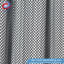 Cascade coil type metal fabric drapery curtain for hotel lobby
