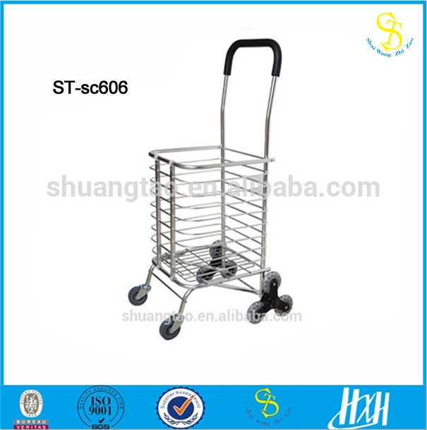 Wholesale climb stairs folding shopping cart, folding wagon