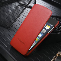 Cheap Mobile Phone Case For iphone6 4.7 Premium 100% Genuine Top Leather Wallet Cardslots/Flip Case Cover