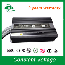 LED Strip Power Supply with Metal Case LED Driver in 300W Single Output Power 24v taurus waterproof led power supply