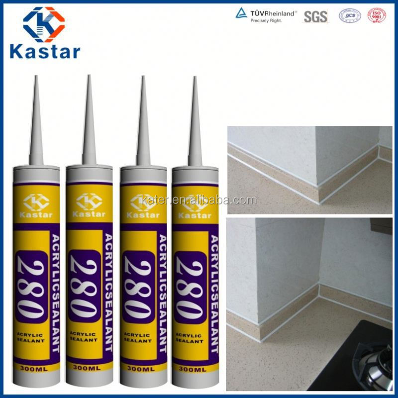 paintable wood white glue factory 100%flexible,acrylic sealant
