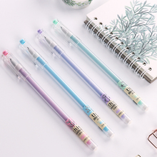 High quality factory multi-colored refillable rainbow gel ink pen