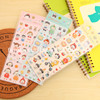 2015 Customized cute cartoon crystal epoxy sticker,resin sticker