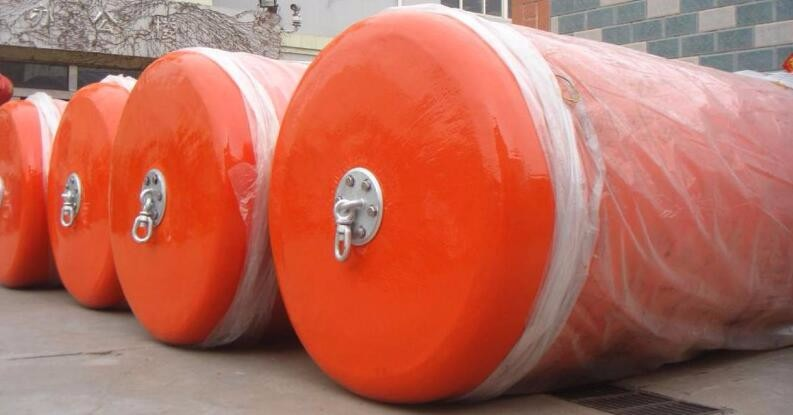Cylindrical type rubber dock EVA foam filled boat fenders ship floating buoys